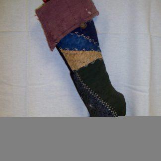 Crazy Quilt Prim Stocking